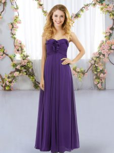 Sleeveless Lace Up Floor Length Ruffles Court Dresses for Sweet 16