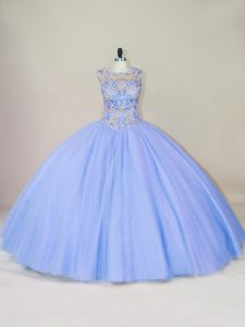 Dynamic Sleeveless Beading Lace Up Quinceanera Gowns