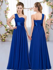 Extravagant Royal Blue Sleeveless Belt Floor Length Quinceanera Court Dresses