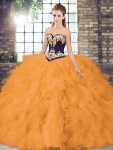 Exceptional Sleeveless Beading and Embroidery Lace Up Quinceanera Gowns