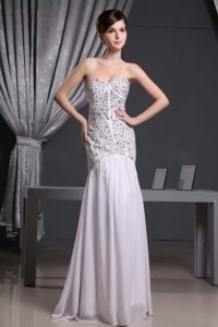 Mermaid Beaded Sweetheart Chiffon Prom Celebrity Dress