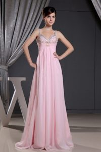 Straps Sweetheart Baby Pink Dress 2013 Prom Gown Dress