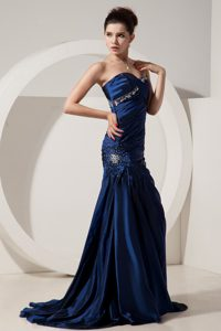 Discount Sweetheart Beading Decorate Prom Dress with Train
