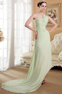 Affordable Apple Green Dresses for Prom Princess One Shoulder