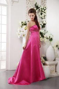 Popular Strapless Hot Pink Beaded Senior Prom in Staffordshire