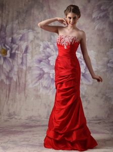Strapless Beaded Red Dresses for Prom Princess Hertfordshire