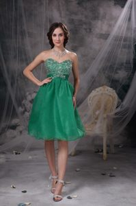Fast Shipping Sweetheart Beaded Prom Cocktail Dress in Green