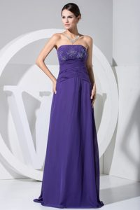 Custom Made Column Beaded Long Prom Dress Colors to Choose