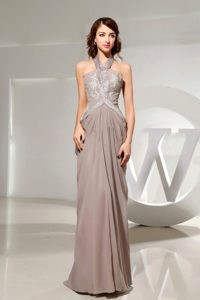Halter top Empire Appliqued Grey Prom Dress in East Sussex