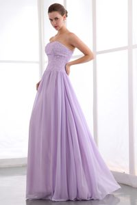 2013 Chiffon Lavender Beaded Sweetheart Prom Holiday Dress