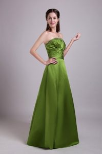 Affordable Floor-length Olive Green Prom Dress with Paillette