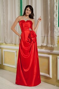 2013 Column Sweetheart Red Long Prom Dress for Red Carpet