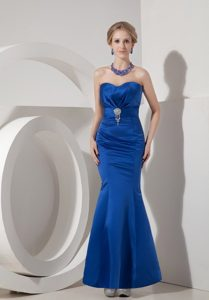 Modest Royal Blue Ankle-length Mermaid Sweetheart Prom Dress
