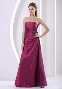 Taffeta Hand Made Flowers and Beading Prom Gown for Cheap