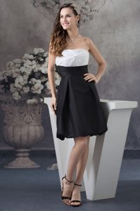 Ruched White and Black Mini-length Prom Gowns in Chandler AZ 2013