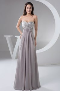 Beaded Sweetheart Long Chiffon Gray Prom Gowns in Anchorage AK