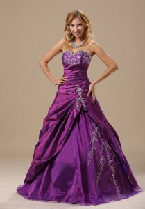 Sweetheart Dresses For Quinceaneras with Appliques and Ruche