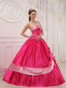 Sweetheart Floor-length Beading Quince Dresses with Bowknots