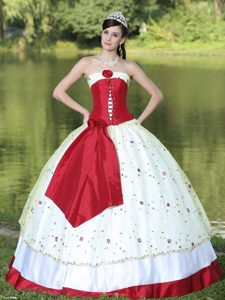Strapless Handkerchief Dress For Quinceaneras In New York