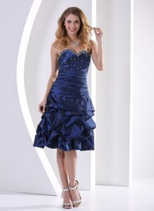 Navy Blue Beading and Pick-ups 2013 Prom Homecoming Dress