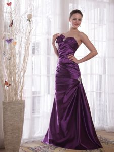 Purple Column Sweetheart Pleating Formal Dress Prom Party Dress