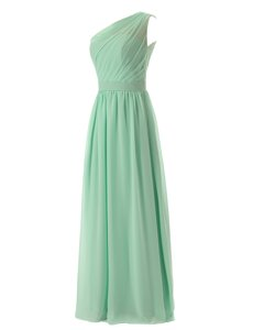 Inexpensive Scoop Green Chiffon Zipper Prom Party Dress Sleeveless Mini Length Beading