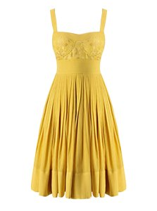 Luxury Yellow Prom Evening Gown Prom and For with Beading and Pleated Sweetheart Sleeveless Criss Cross
