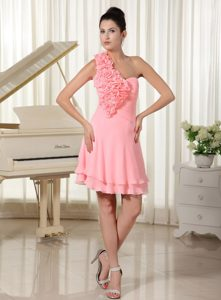 Watermelon Hand Flowers Chiffon Pretty Dresses For End Of Year Socials