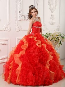 Organza Sweetheart Appliques and Beading Colorful Dresses For a Quince