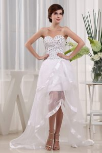 Popular Sweetheart Prom Dress with Beading and Ruffled Layers