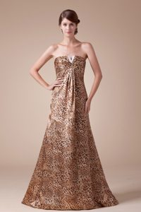 Leopard Multi-color Beading Hot Style Celebrity Prom Dresses