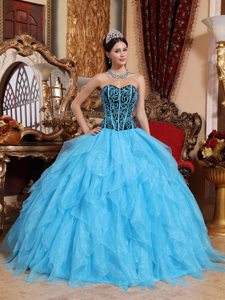 Beading and Embroidery Sweetheart Layered Organza Dresses Of 15