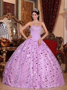 Simple Lavender Sweet 15 Dresses with Sequins in City of London