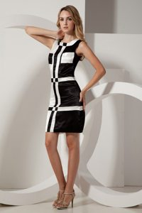 Unique Column Square Neck Little White And Black Dress Patterns