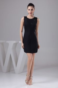 Affordable Column Scoop Neck Little Black Dresses for Nightclub