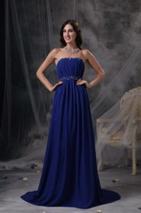 Designer Empire Strapless Beaded Ruched Prom Dresses Store