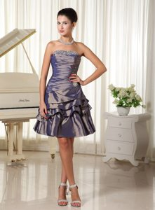 Mature Norfolk Beaded Ruched Knee-length Prom Dress Colors