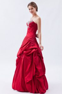 Beaded Strapless Prom Bridesmaid Dress Gowns Ruffles Lace up Back