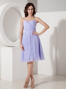 Lilac Cocktail Prom Dress Empire Sweetheart Pleated Knee-length