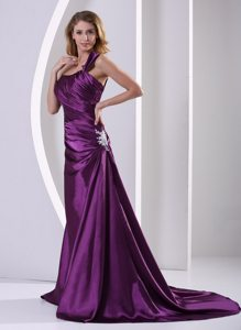 Eggplant Purple One Shoulder Prom Mother Of The Bride Dresses