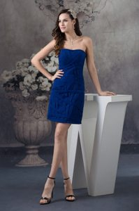 Royal Blue Strapless Mini-length Prom Evening Dress in North Vancouver