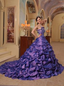 Appliques and Pick ups Accent Lavender Court Sweet Sixteen Dress