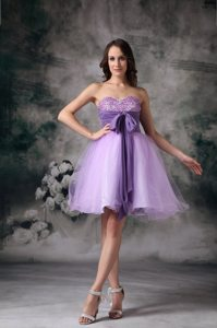 Lilac Bowknot Beaded Mini Dress for Prom in Lancashire 2013