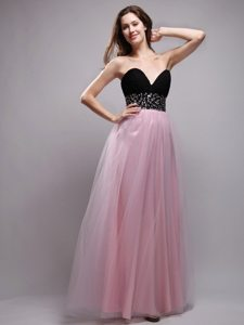 Latest Two-toned Beaded Sweetheart Long Prom Dress for Girls