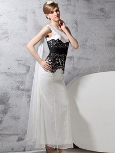 Nice One Shoulder Sleeveless Lace Side Zipper Prom Party Dress