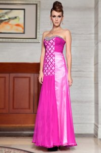 New Style Scoop Baby Pink Sleeveless Chiffon Side Zipper Prom Evening Gown for Prom and Party