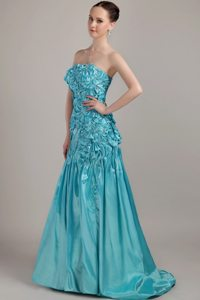 Lace-up Strapless Dress for Prom Beading Sweep Train for Varzea Grande