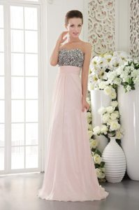 Burlingame CA Pink Long Prom Graduation Dress with Beading 2014