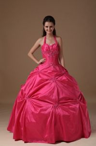 Thousand Oaks CA Hot Pink Dresses for Quinceanera with Beading