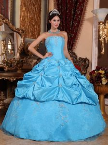 Attractive Appliques Taffeta Sweet 15 Dresses Strapless for Curitiba